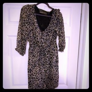 ZARA Leopard Dress sz XL